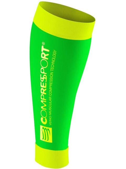 Compressport R2 - Collants - jaune/vert